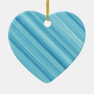 Blue metal background ceramic heart decoration