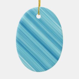 Blue metal background ceramic oval decoration