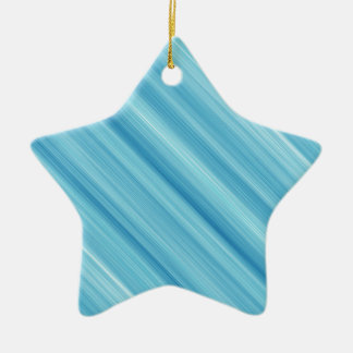 Blue metal background ceramic star decoration