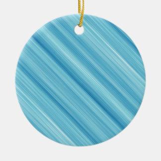 Blue metal background round ceramic decoration