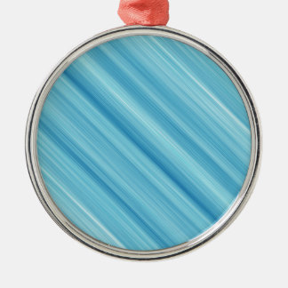 Blue metal background Silver-Colored round decoration