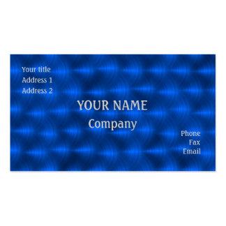 Blue metal business card