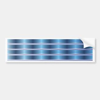 Blue Metal Stripes Bumper Sticker