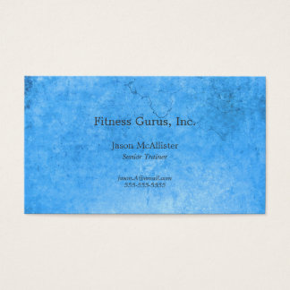 Blue metal textures business card
