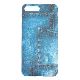 blue metal textures iPhone 7 plus case