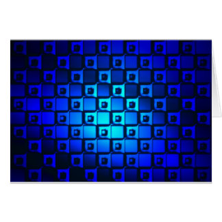 Blue Metallic Background Card