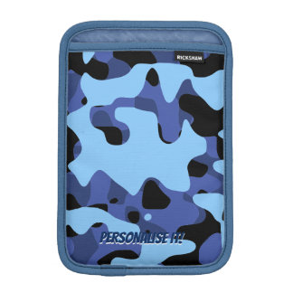 Blue Military Camouflage iPad Mini Sleeve