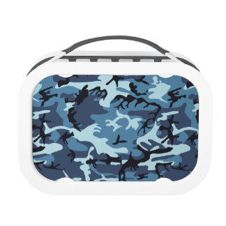 Blue Military Camouflage Lunch Boxes