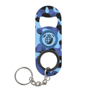 Blue Military Camouflage with grenade