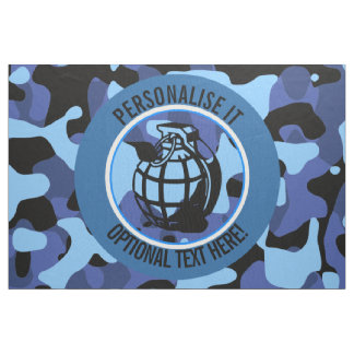 Blue Military Camouflage with grenade Fabric