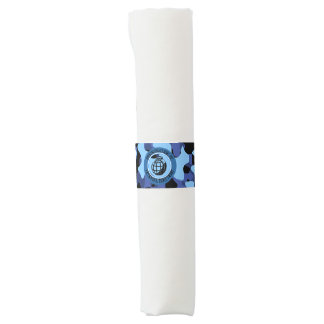 Blue Military Camouflage with grenade Napkin Band