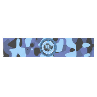 Blue Military Camouflage with grenade Short Table Runner