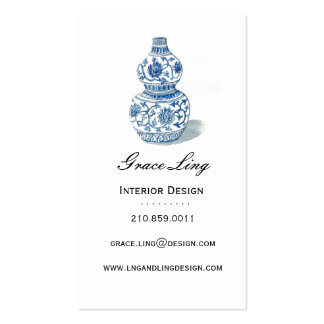 Blue Ming Vase Interior Designer Business Card