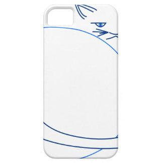 Blue Minimalist Cat (iPhone 5/s) iPhone 5 Cover