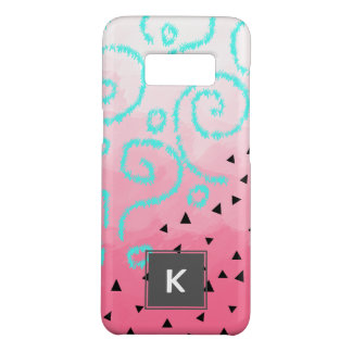 blue mint black geometric pattern pink brushstroke Case-Mate samsung galaxy s8 case