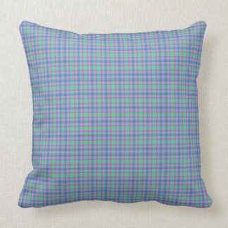 Blue Mint Green Purple Striped Plaid Cushion