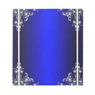 Blue Mirror Design Notepad