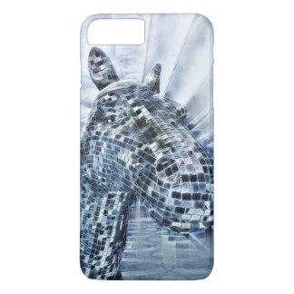 Blue mirror mosaic horse iPhone 8 plus/7 plus case
