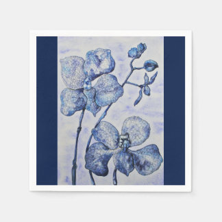 Blue Mist Orchid Special Occasion Napkins Disposable Napkin