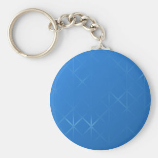 Blue Misty Grid Abstract Design. Basic Round Button Key Ring