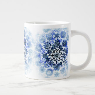 Blue Misty Snowflakes Cup