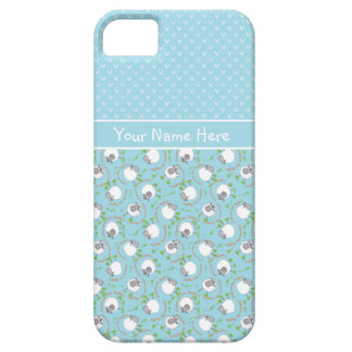 Blue Mix and Match Fun Sheep Patterns Barely There iPhone 5 Case