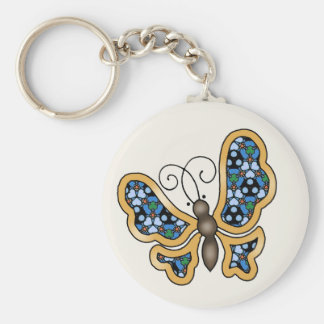 Blue Mix & Match Collectables - 08 Basic Round Button Key Ring