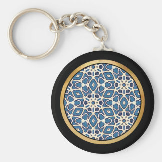 Blue Mix & Match Collectables - 1 Basic Round Button Key Ring