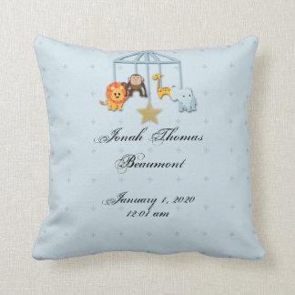 Blue Mobile Baby Keepsake Pillow