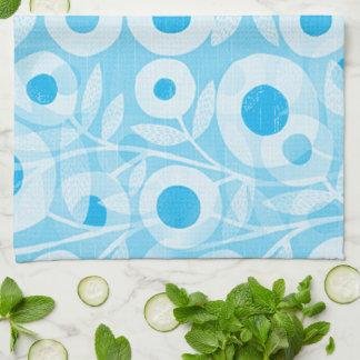 Blue-Mod-Floral- Tea Towel