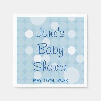Blue Mod Polka Dot Baby Shower Napkins Disposable Napkins