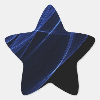 Blue Modern Art Sticker