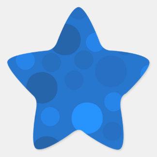 Blue Modern Dots Stickers