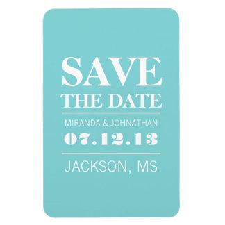 Blue Modern Elegance Save The Date Magnet