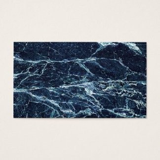 Blue modern marble pattern business card