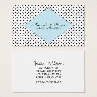 Blue Modern Polka Dots Business Card