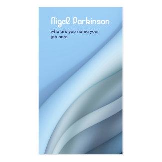 blue modern wavy business card standard business cards