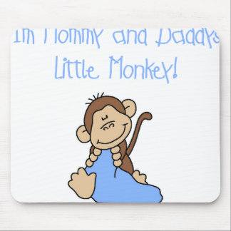Blue Mommy and Daddy's Monkey Mouse Pad