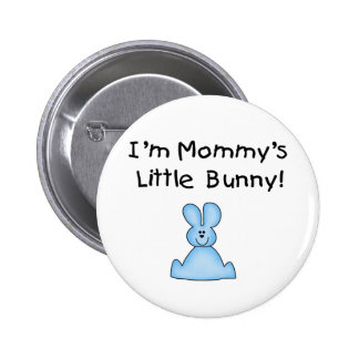 Blue Mommy's Little Bunny T-shirts and Gifts Button
