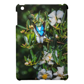 Blue Monarch Butterfly on Flowers iPad Mini Cases