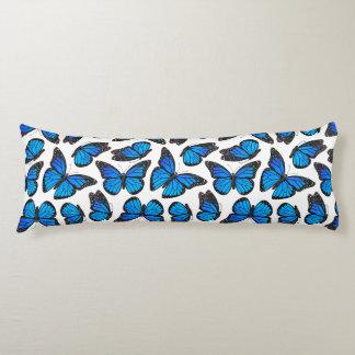Blue Monarch Butterfly Pattern Body Cushion