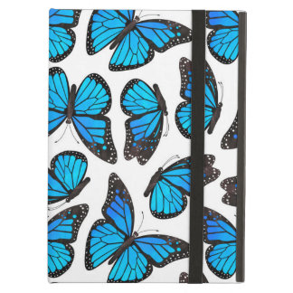 Blue Monarch Butterfly Pattern iPad Air Cover