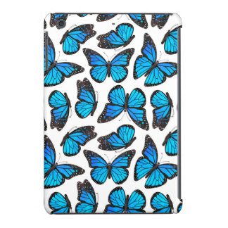 Blue Monarch Butterfly Pattern iPad Mini Retina Cases