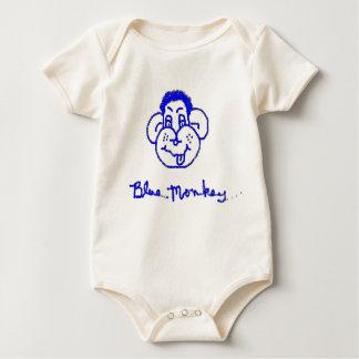 blue monkey baby bodysuit