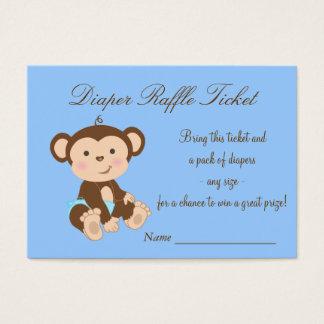 Blue Monkey Diaper Raffle Tickets