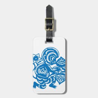 Blue Monkey Paper Cutting Bag Tags