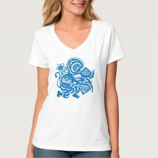 Blue Monkey Paper Cutting T-Shirt