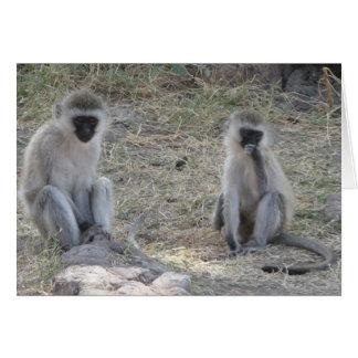 Blue Monkeys Card