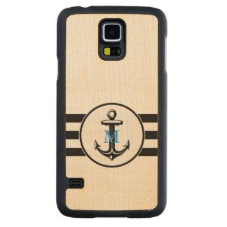 Blue Monogram | Classic Anchor Maple Galaxy S5 Case