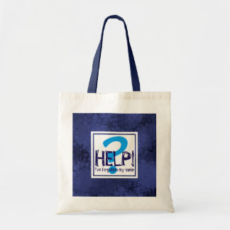 Blue Monogram Parody Tote Bag